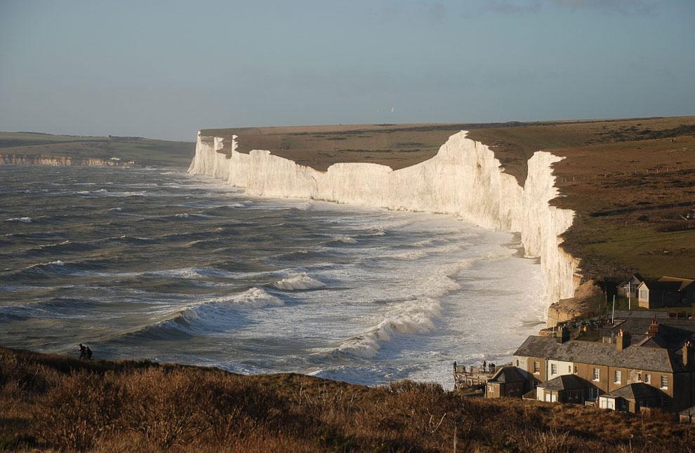 Меловые скалы Семь Сестер и Бичи-Хед в графстве Суссекс — удивительный государственный заповедник Англии